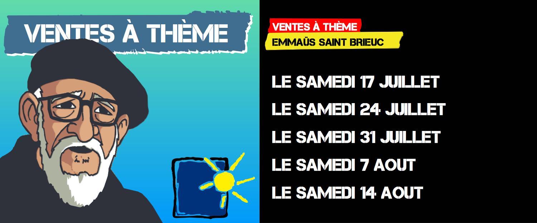 Les ventes à Thème de l'été 2021 à Emmaus Côtes d'armor